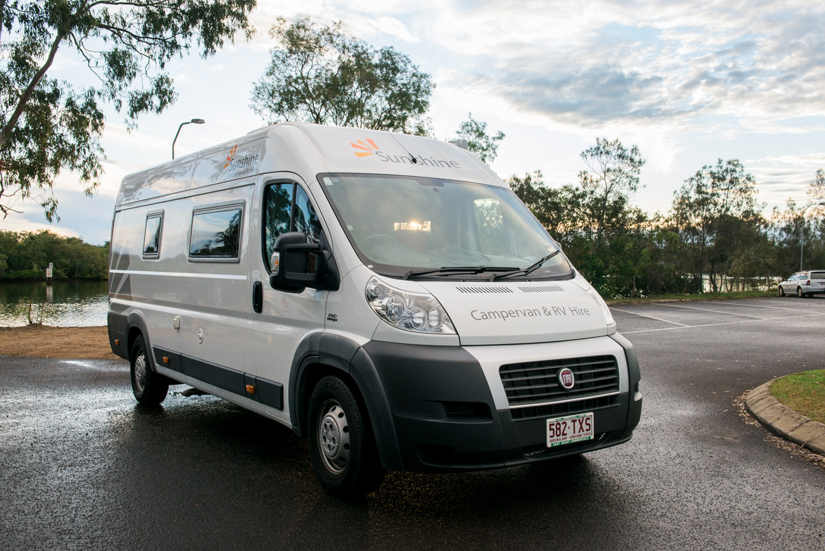 """The Stradbroke"" is our camper van for hire on the Sunshine Coast."