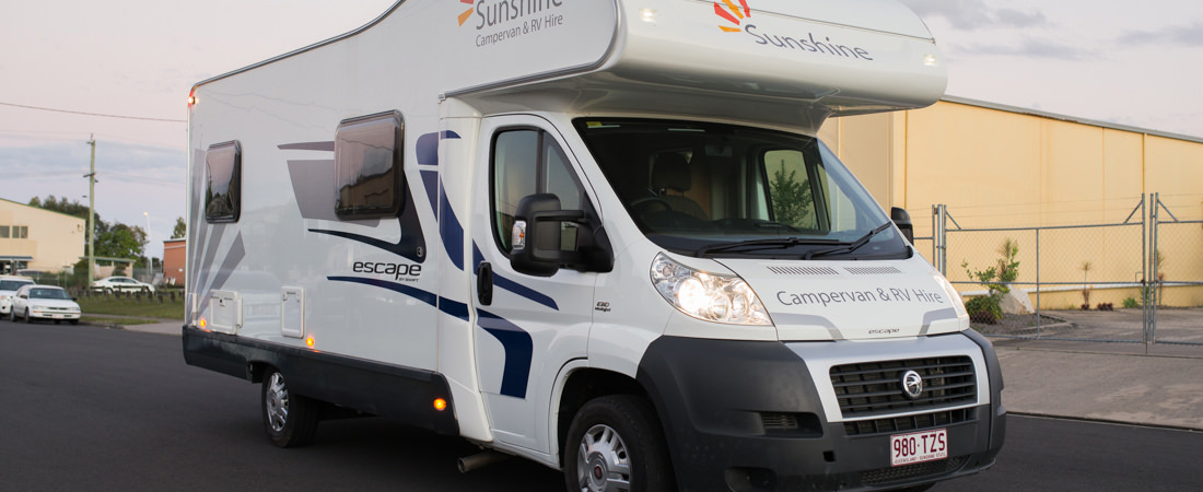 """The Noosa"" motorhome, available for hire from Sunshine Campervan & RV Hire."