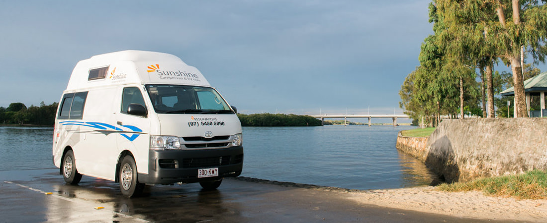 Hi-top campervans for hire on the sunshine coast.