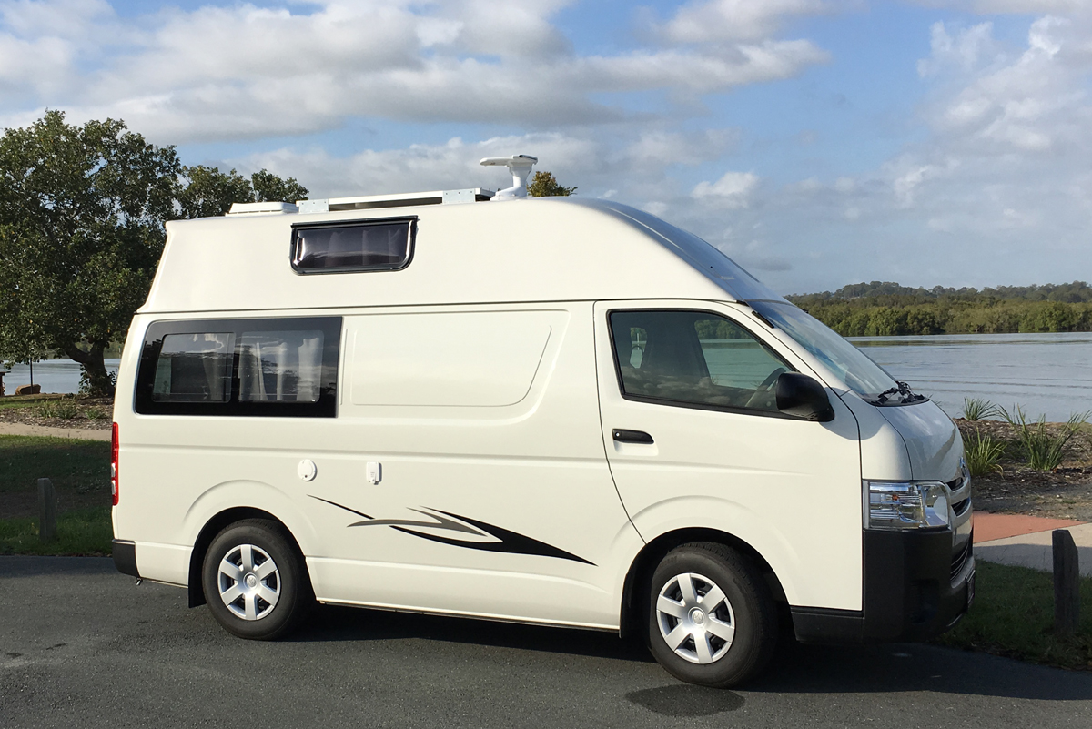 hi-top campervan for hire sunshine coast