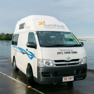 Brisbane campervan hire is available now in one of our Toyota Hi-top vehicles.